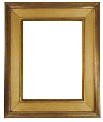8 x 10  Picture Frame HandApplied Gold Leaf Finish Gallery Frame Super Nice