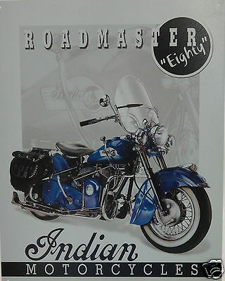 """Indian Motorcycles Roadmaster """"Eighty"""" Sign"""