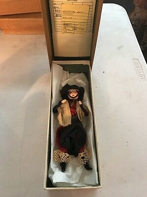 Vintage Argentinian Costume Folk Doll - Provenance From Newark Museum Collection