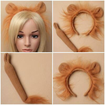 Lion Ears Alice Band Fancy Dress  Party Set With Tail