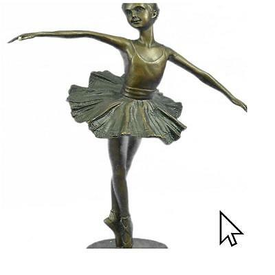 "Dancers 10"" Tall Classical Dancer Ballerina Bronze Sculpture Statue Figurine"