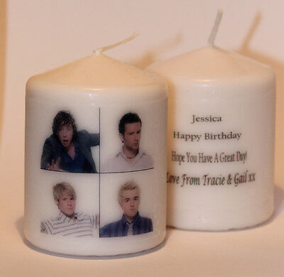 McFly photo image personalised Mini candle gift any occasion  Cellini #6