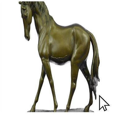 Hot Cast Superb By Mene Stallion Horse Bronze Sculpture Statue Figurine