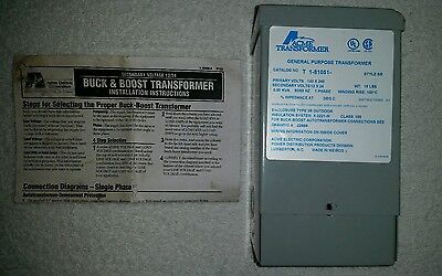 Acme T181051 Buck Boost Transformer 120/240VAC Input 12/24VAC Output