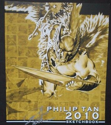Philip Tan 2010 Sketchbook Signed Art Book Very Rare