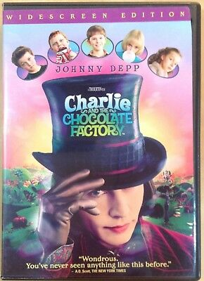 Charlie & The Chocolate Factory DVD 2005 Widescreen Johnny Depp RecycledDVD.com