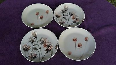 Set of 4 Crate & Barrel Luli Sanchez Wildflower Series Salad Plate 9""
