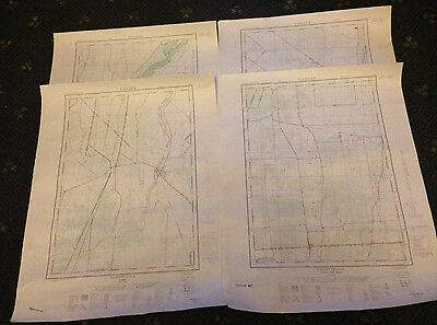 LOT of 18 VINTAGE QUEBEC CANADA MAPS - 1:25,000 (Royal Canadian Engineers)