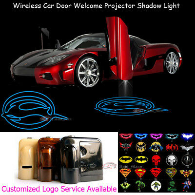 2x Wireless Car Door Logo Laser Projector LED Lights for Chevrolet Chevy Impala