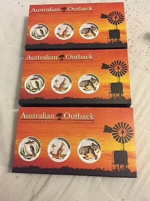 Australian Outback 2012 Coloured Silver Coin Collection