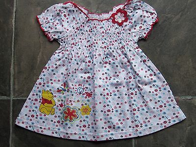 BNWT Baby Girl's Winnie The Pooh Floral Swing Top Size 0