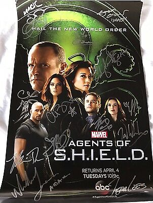 Agents Of Shield Signed Poster Wondercon 2017
