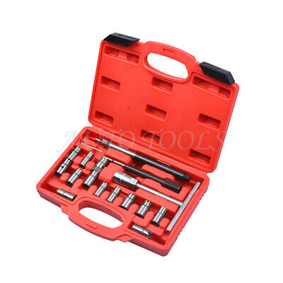 Diesel Injector Seat Cutter Cleaner CDI 17pcs Carbon Remover Tool Kit