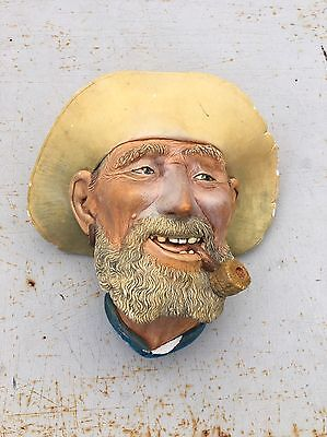 Bossons England Character Wall Hanging Chalkware Head Old Timer