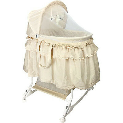 NEW CHILDCARE COSY TIME BEDSIDE CO SLEEPER GREY BASSINET baby COT CRIB