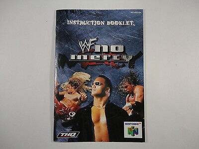 ¤ WWF No Mercy ¤ (MANUAL ONLY) GREAT Nintendo 64 N64