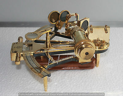 """Nautical Sextant 8"""" Working Solid Brass Marine Vintage Collectible Gift Item."""