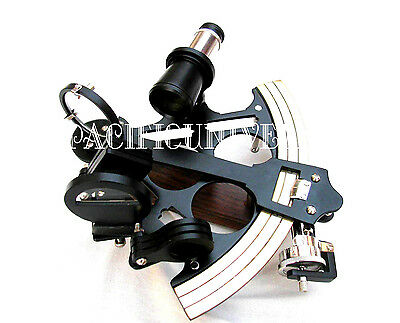 """Nautical Beautiful Collectible Sextant 8"""" Ships Working Black Powder Coating D."""