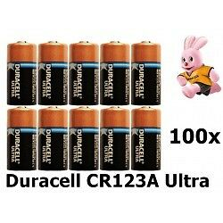 Duracell CR123A Ultra lithium battery 100x NL