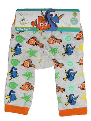 Size 00, 0 - Disney Finding Dory Baby Knit Tights - Nemo & Dory Print