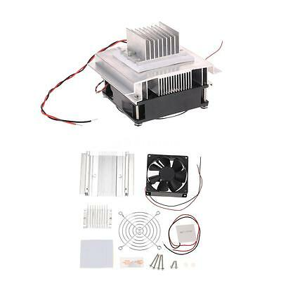 Thermoelectric Peltier Refrigeration Cooling System Kit Cooler Fan Module J8O6