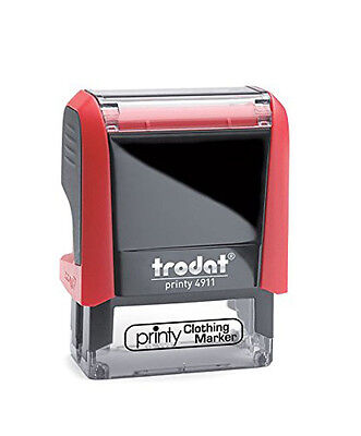 Trodat Personalized with Your Name Clothing Stamp - 4911- Cloth Marking Stamp