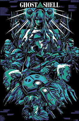 "075 Ghost In The Shell - Fight Riot Police Anime Hot Movie 14""x21"" Poster"