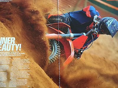 Ktm 125Sx / 250Sx / 450Sx # 2006 Models # 5 Page Motorcycle Article + Advert