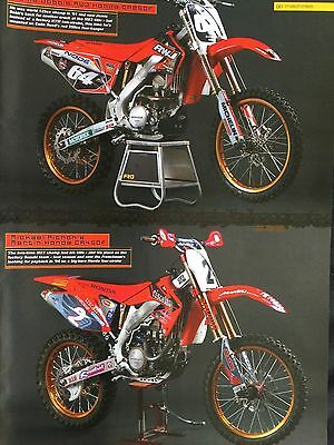 Honda Cr250F / Cr450F Gp Machines # 1 Page Original Motorcycle Picture