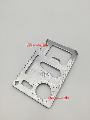 Credit Card Multi Tools 11 in 1 Pocket Camping Knife Hunting Tactical Survival