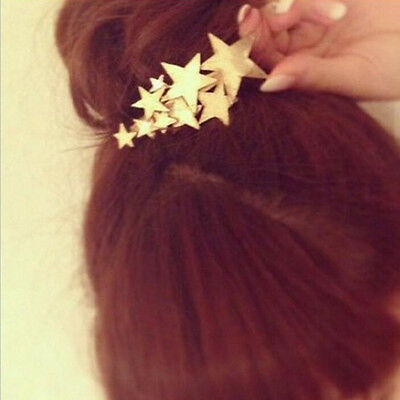 Gold/Silver Star Pin Beauty Gift Hairpin Hair For Girls Clip