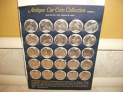 Sunoco Franklin Mint Antique Car Coin Collection Series 1 Silver Tone Coins