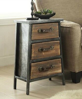 Urban Style Rustic Cabin Furniture Nightstand End Table Accent Chest