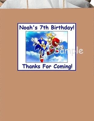 (18)Personalized Sonic The HedgehoG inspired party Stickers,Birthday,supplies