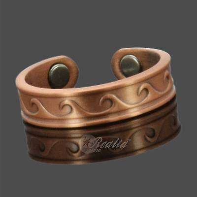 Copper Magnetic Ring 4 Painful or Swollen Joints Naturally Anti-Inflammatory -RW