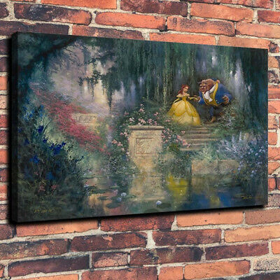Disney Beauty and The Beast Art Print Oil Painting on Canvas Home Decor 18x24