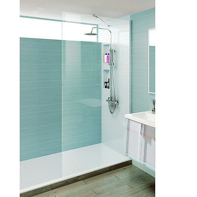 Walk In Wet Room Shower Enclosure Glass Easy Clean Screen Panel 8mm UK