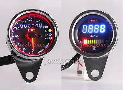 Tachometer Fuel Gauge Speedometer for Harley Chopper Bobber Cruiser Touring