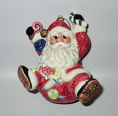Fitz & Floyd Classics Sugar Plum Santa Christmas Tree Ornament 2002