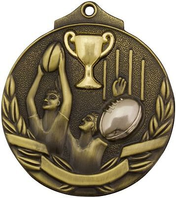 Aussie Rules AFL Football Medal Award 50mm Trophy FREE Engraving & Neck Ribbon