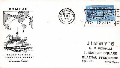 GB 1963 Commonwealth Cable (Non Phos.) FDC with Londonderry FDI Cancel