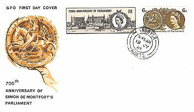 GB 1965 700th Anniversary of Parliament (Non Phos.) FDC with Andover CDS