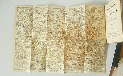 "1922 Antique London Travel Guide 'Muirhead's London"" with Maps"