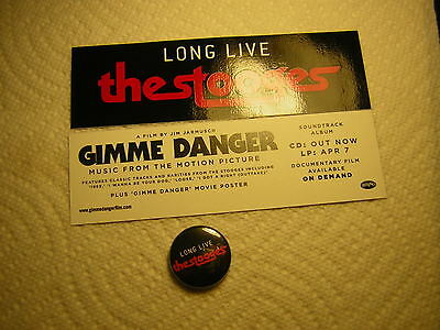 The Stooges Promo Sticker &promo Button 2017 Iggy Pop Long Live Stooges