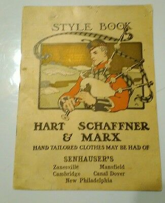 Vintage 1902 Hart Schaffner & Marx Style Book Mens Clothes Catalog Senhauer's