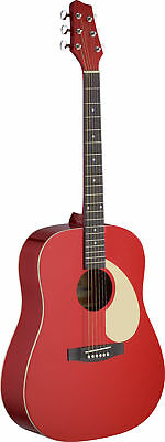 Stagg SA30 Dreadnought Acoustic Guitar Red