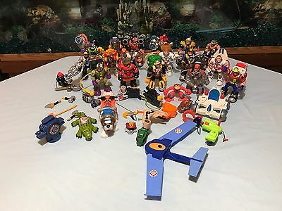 Fisher Price Rescue Heroes Lot B Of 20 Figures W/ 20 Acc Packs