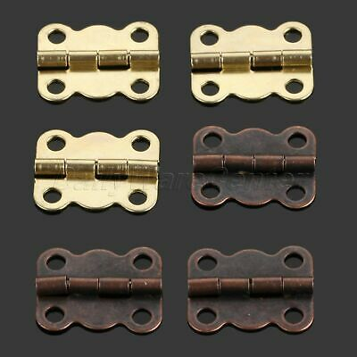 10-100cps 16*13mm Copper Jewelry Box Hinge Butterfly Small Hinge with Screws DIY