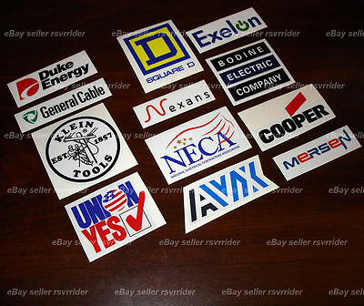 electrical worker contractor hardhat decal sticker union electrician
