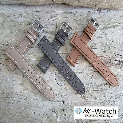 Genuine Suede Leather Watch Strap 20mm, 22mm in Beige, Tan Brown, Grey variation